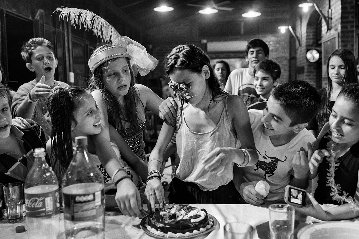 CHARATA, CHACO, ARGENTINA - APRIL 2014: Birthday party of the daughter of one of the largest producers of Soya Charata. Charata is one of the main regions of production of soybeans and corn.