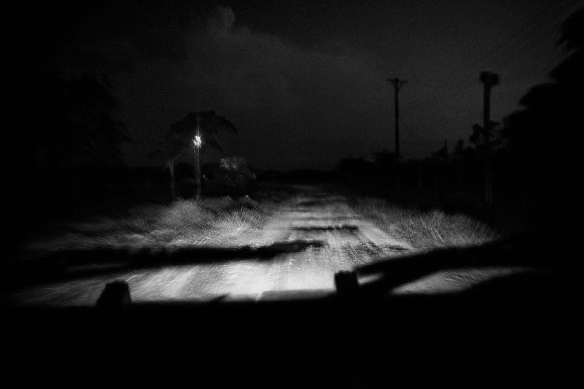 CAQUETA, COLOMBIA -MARCH 2016: Driving through the road between Santa Fe del Cagúan and Remolinos del Caguan. During the first mothns of the year there has been strong rumors of the presence of new paramilitaries groups in the are taking control of the areas left behind by FARC-EP due to the peace talks.