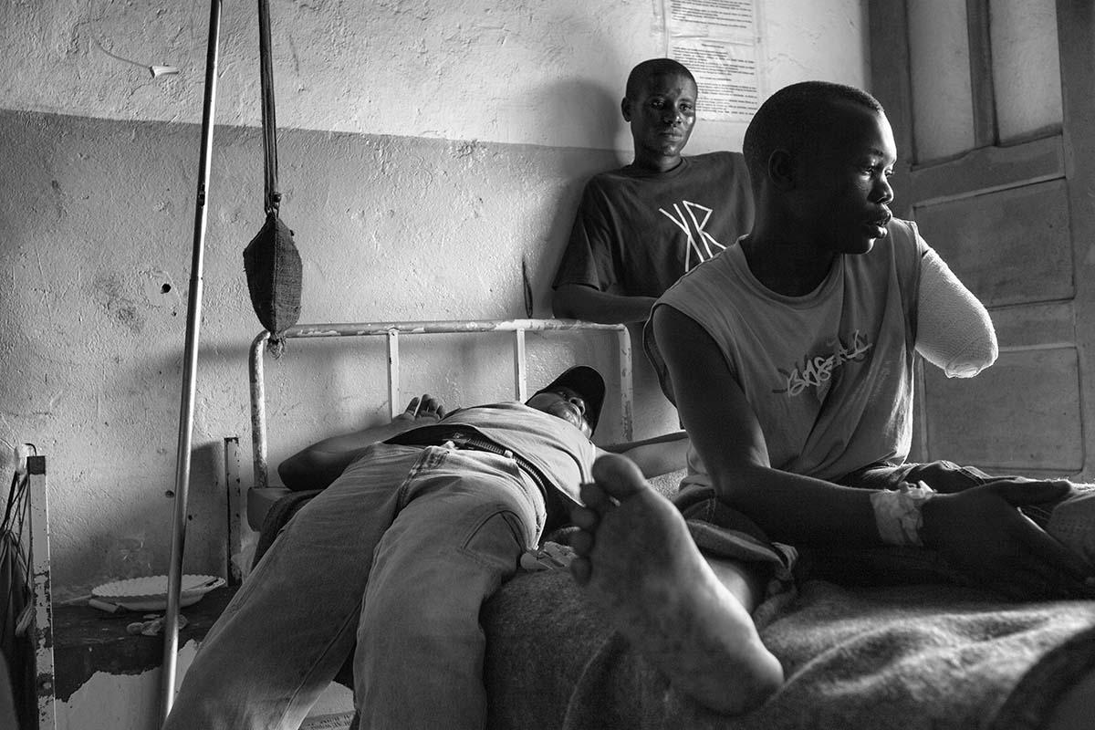 GOMA, DEMOCRATIC REPUBLIC OF CONGO, NOVEMBER 2008: Inside the Goma hospital.