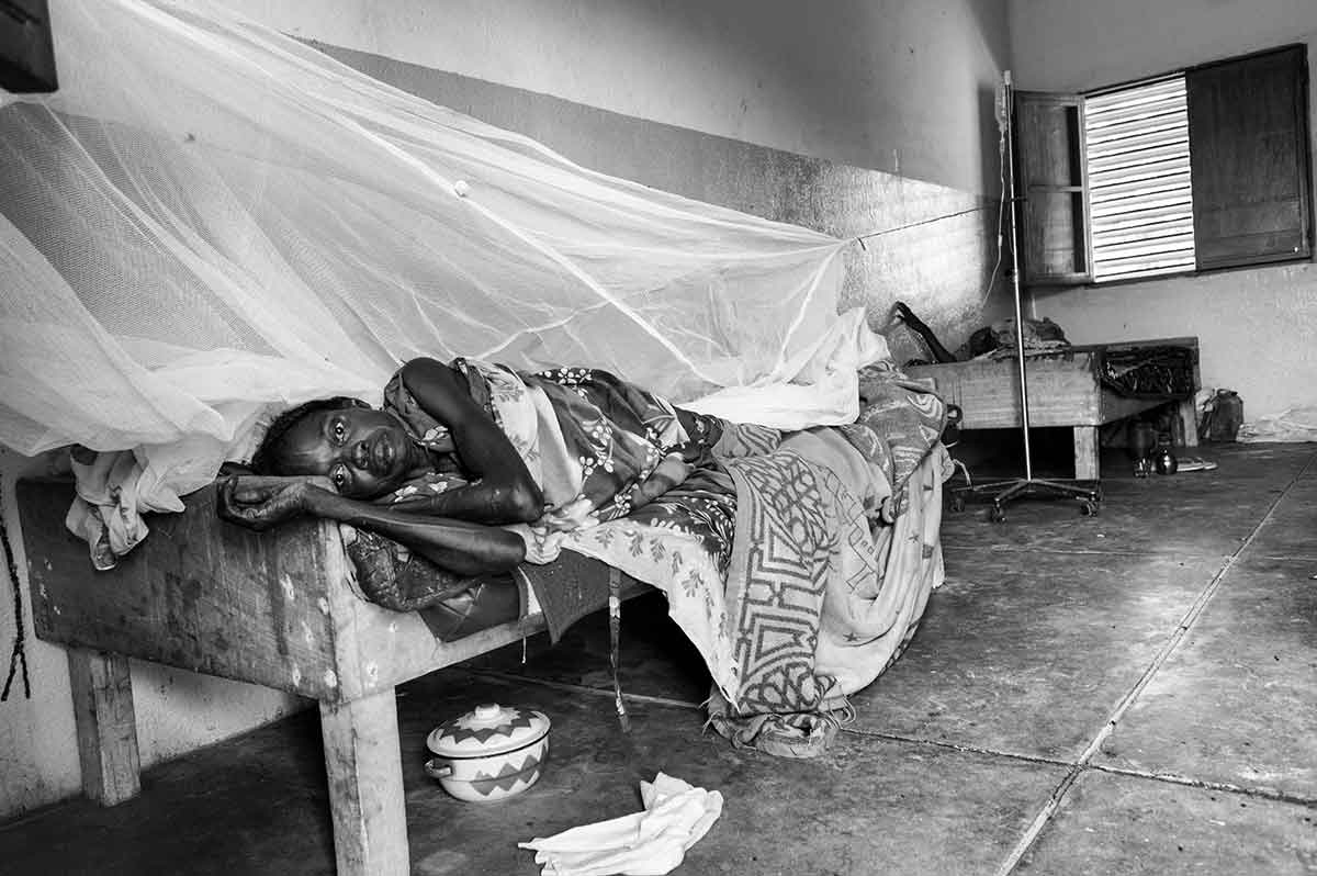 CHAD - SEPTEMBER 2008: The public health situation is difficult in all the northern refugee camps along Chad's eastern border. A sick refugee woman is Gereda hospital, pictured, which is run by International Medical Corp.