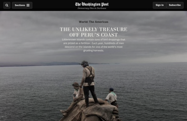 The Washington Post publishes the Guano Islands project
